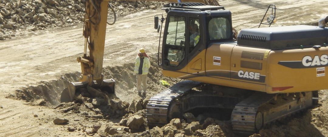 Control paleontológico en la Autovía B-40
