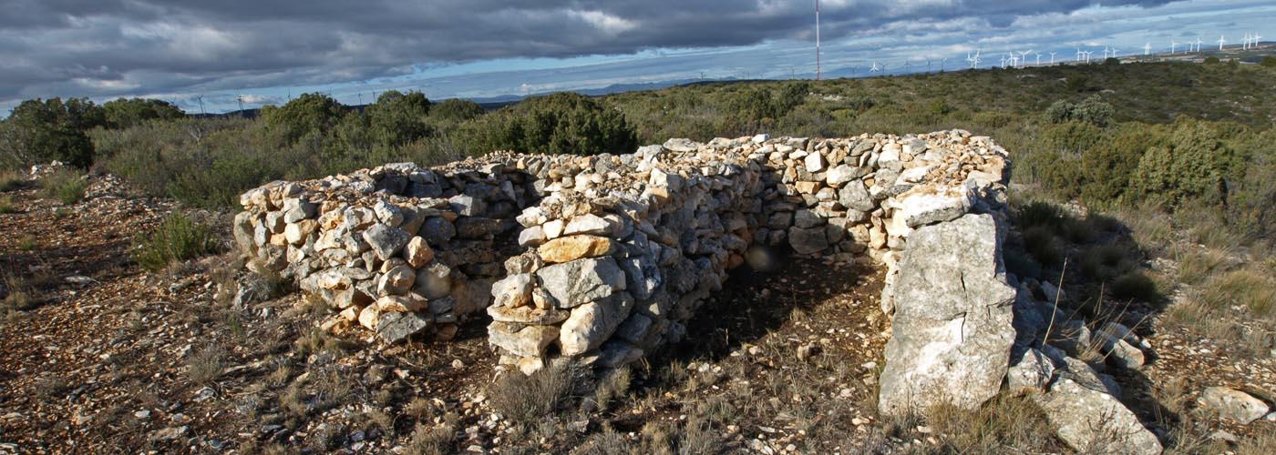 Trinchera hecha de piedra seca