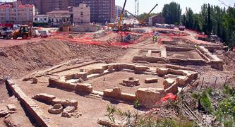 Excavación de Restos arqueológicos en la zona del Balcón de San Lázaro (Zaragoza)