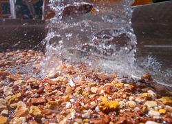 Proceso de lavado de muestra de sedimento