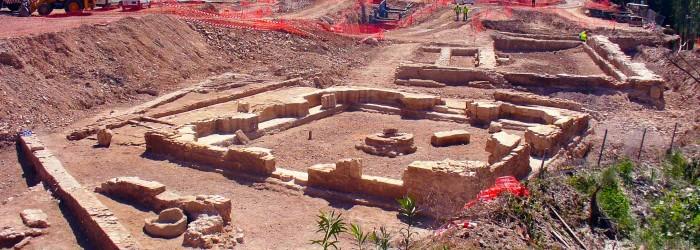 Estructura arqueológica descubierta durante la ejecución de una obra