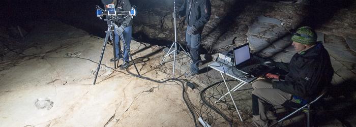 Escanando yacimiento paleontológico con laser escaner