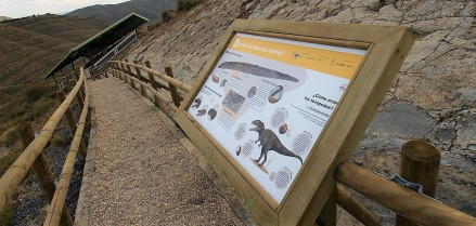 El yacimiento de icnitas de dinosaurio de Los Cayos (La Rioja) estrena nueva imagen