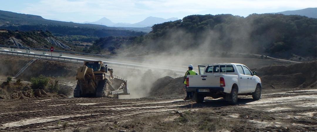 Seguimiento arqueológico en las obras de la A-21 en Sigüés