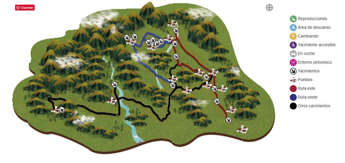 Mapa Ruta Icnitas Soria