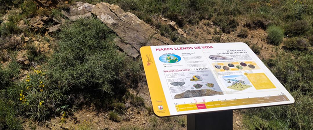 Reposición de cartelería en la ruta geológica del río Nogueta